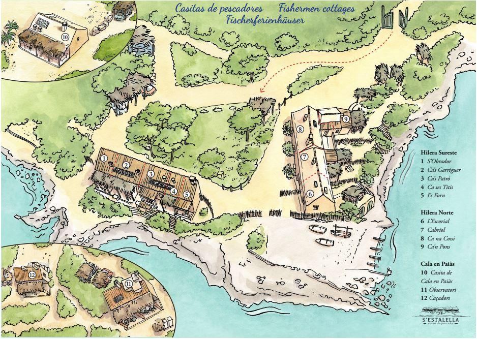 Mapa casas rurales en mallorca