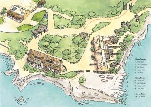 Mapa casitas de pescadores Mallorca