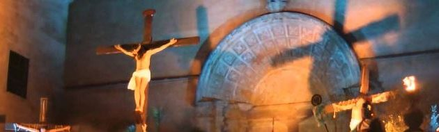 crucifixion de Jesús en Felanitx en Mallorca